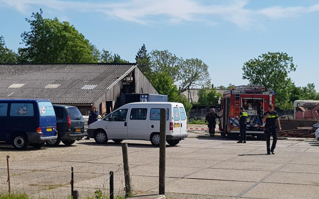 Veel rookontwikkeling bij brand in stal Oud Bodegraafseweg Bodegraven