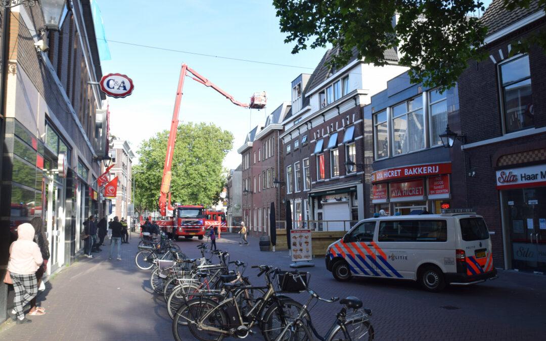 Brand op balkon geblust Lange Kerkstraat Schiedam
