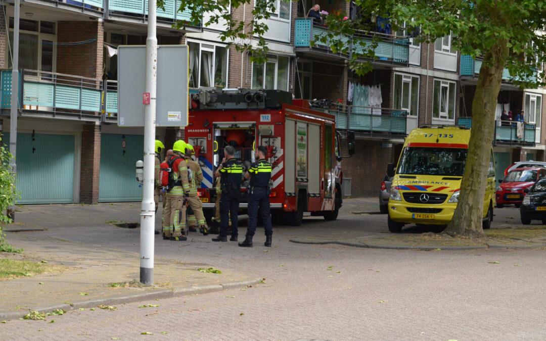 Brand in flatwoning Asserweg Rotterdam