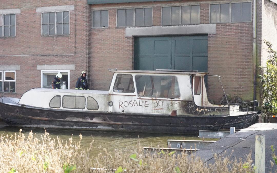 Forse brand in boot Onder de Boompjes Gouda