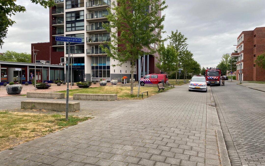 Flat met aanleunwoningen zonder water na leidingbreuk Vlissingenplein Rotterdam