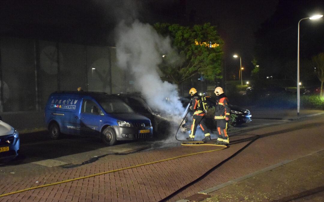 Voertuig door brand verwoest Doortocht Nieuwerkerk aan den IJssel