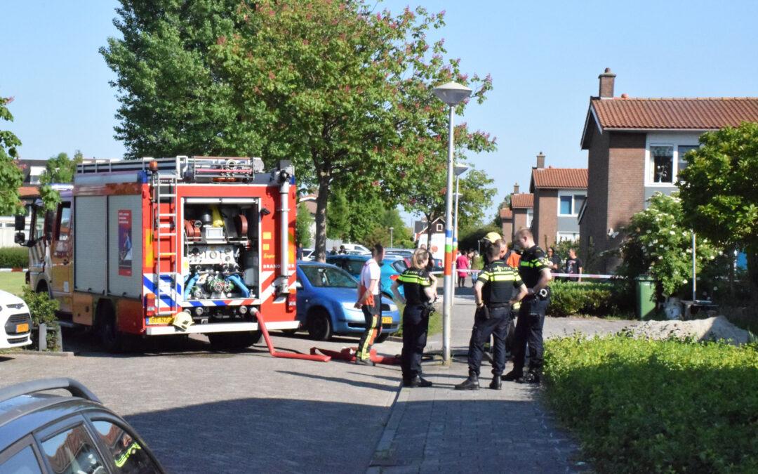 Wespenbestrijdingsactie eindigt in brand in spouwmuur Prinses Marijkestraat Moordrecht