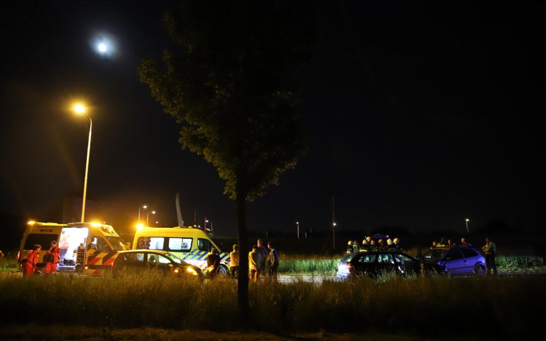 Meerdere gewonden na frontale botsing op Zuidplasweg in Zevenhuizen