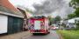 Forse rook bij brand in leegstaande loods aan Kruisdijk in Poortugaal