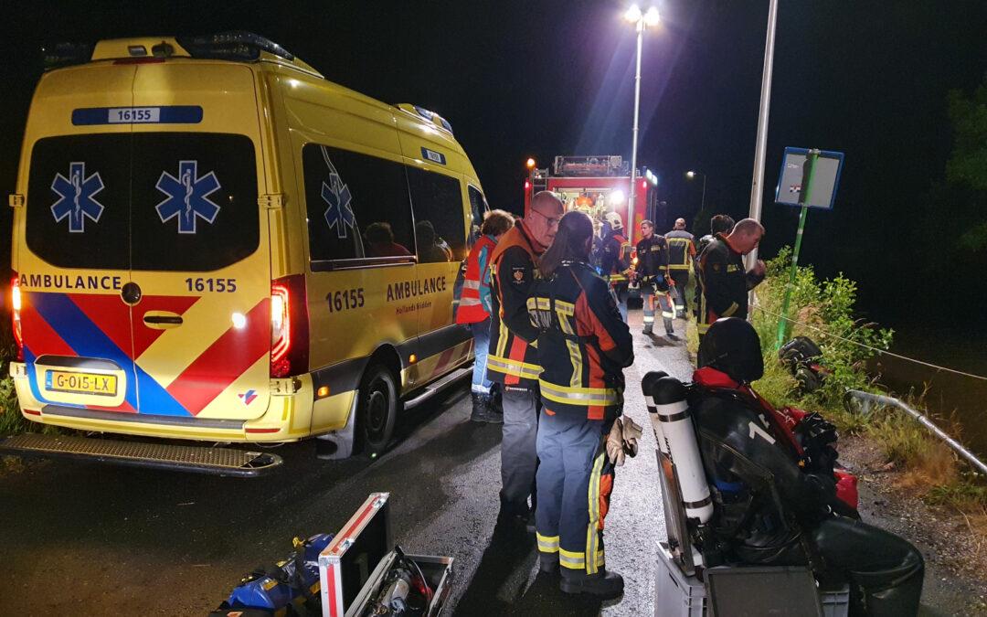 Zoekactie na aantreffen van een scooter in de sloot Nieuwdorperweg Reeuwijk