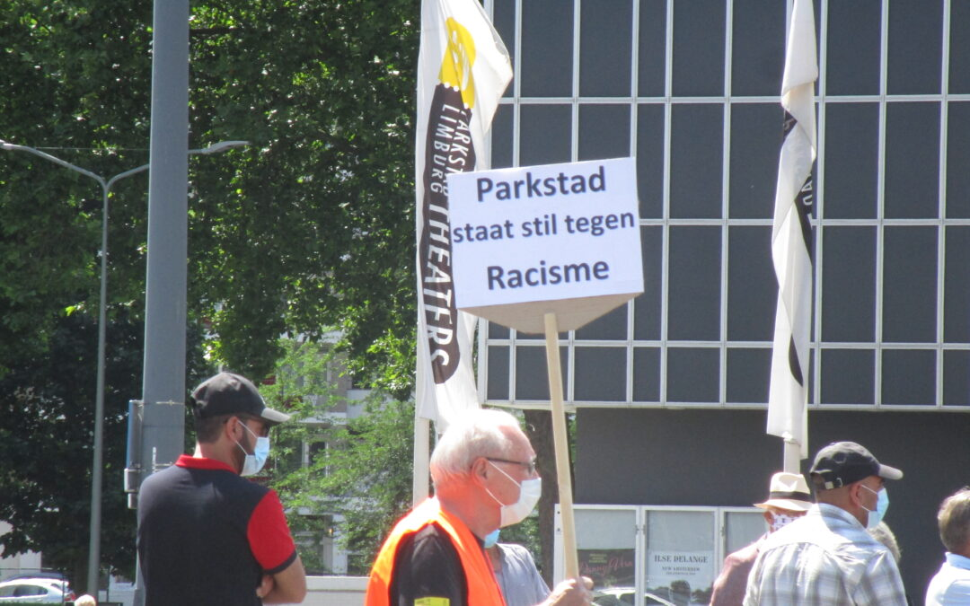 Black Live Matters-demonstratie door middel van stilteprotest Burgemeester van Grunsvenplein Heerlen