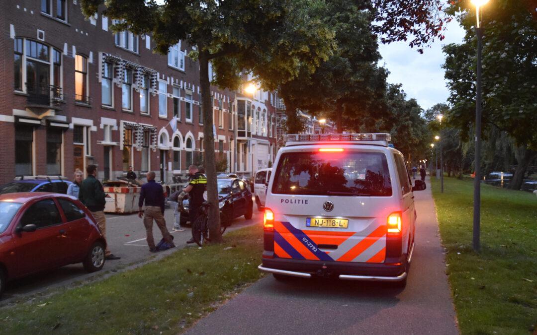Fietser botst op rijdende auto Heemraadssingel Rotterdam