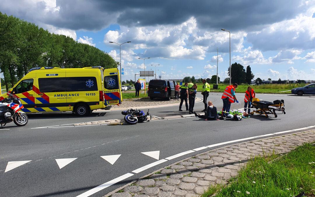 Motorrijder gewond na ongeval met taxibus Kanaaldijk – N207 Gouda