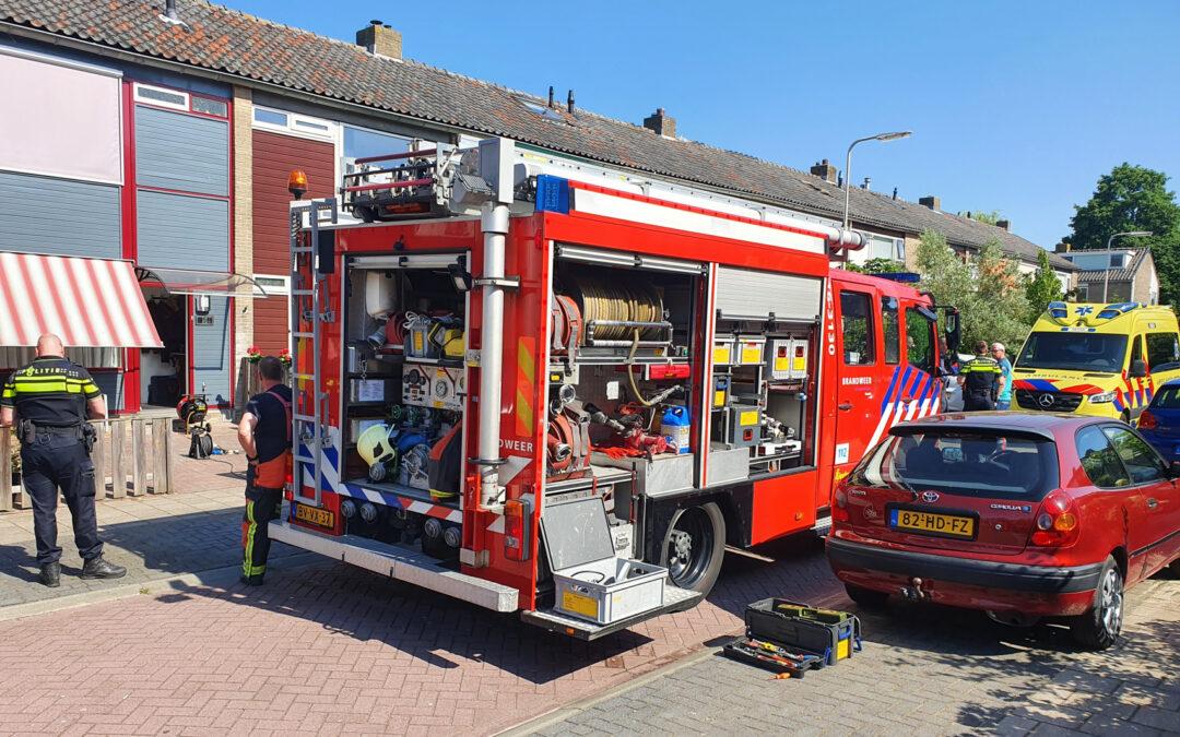 Gewonde bij brand in keuken Dercksenstraat Gouda