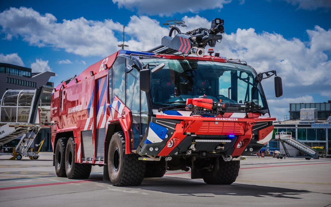 Dit zijn de nieuwe brandweervoertuigen op Rotterdam The Hague Airport