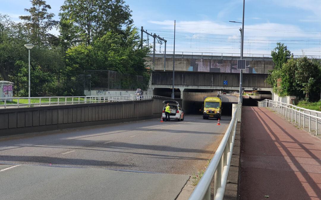 Veel schade door kop-staart botsing in tunnel Diergaardetunnel Rotterdam