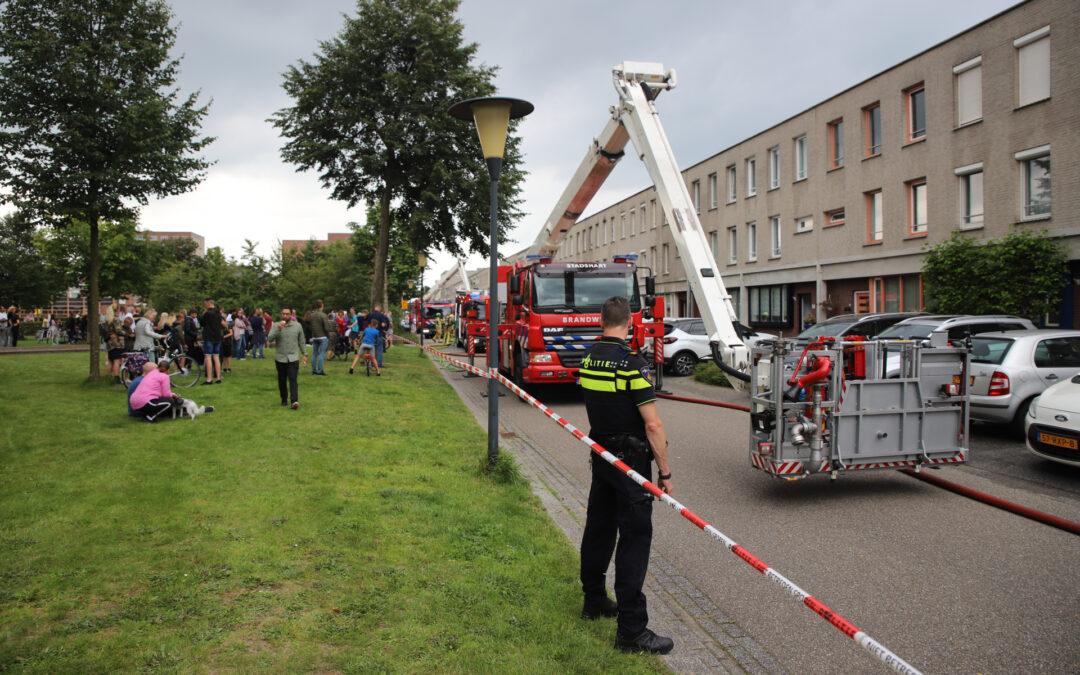 Flinke brand bij woning Hazerswoudestraat Zoetermeer