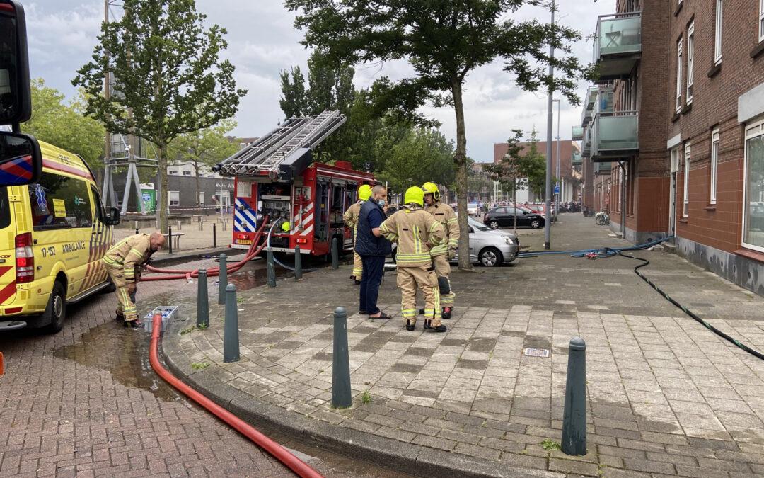 Meerdere gewonde bij ontploffing in schuur Spiegelstraat Rotterdam