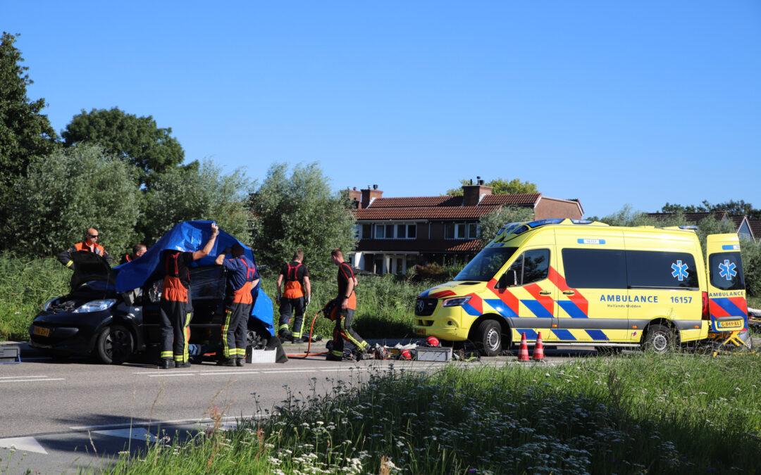 Bestuurder raakt bekneld na verkeersongeval Kanaaldijk – N454 Waddinxveen