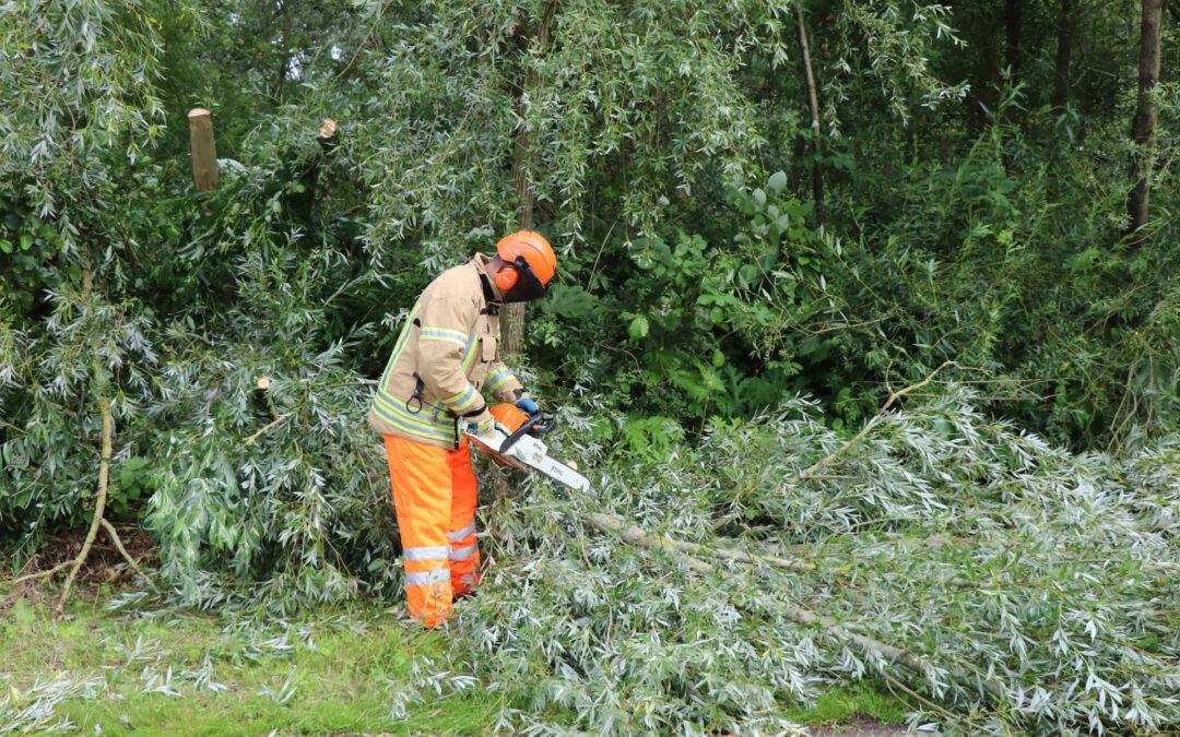 Omgevallen boom versperd de weg 's-Gravenweg Capelle aan den IJssel