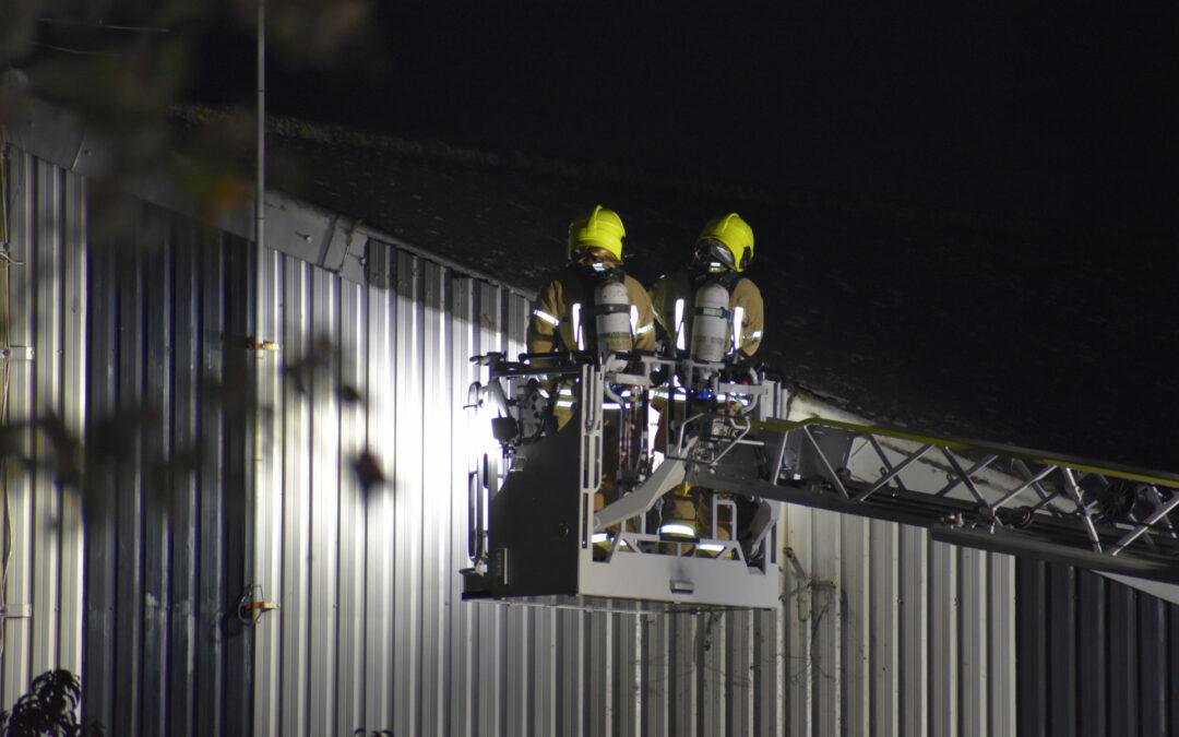 Buitenverlichting aan gevel in brand gevlogen Groendalseweg Bleiswijk
