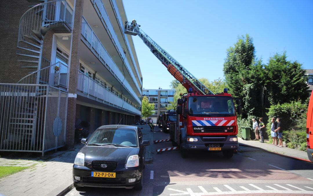 Brand op derde verdieping van flatgebouw Johannes Poststraat Gouda