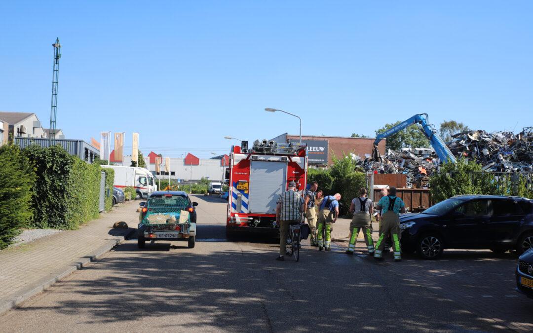 Brand bij schroothandel De Bruin Recycling Ampereweg Woerden