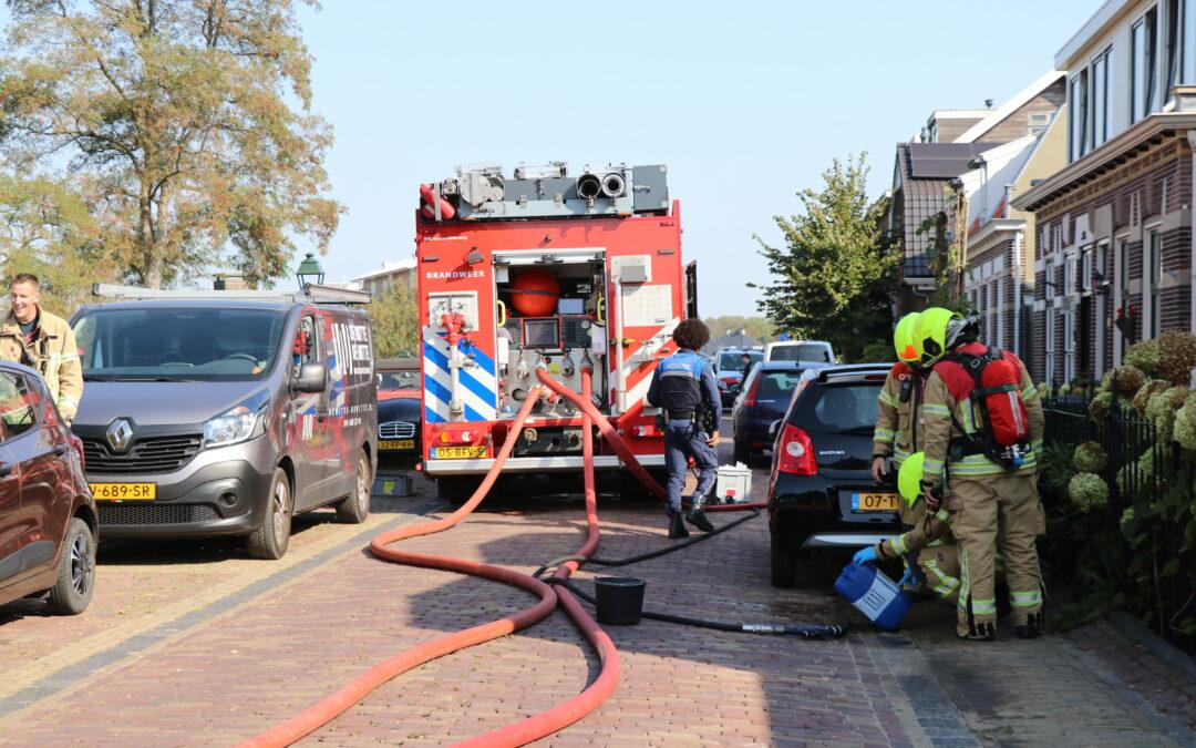 Ongeluk met vullen van zonneboiler Dorpsstraat Capelle aan den IJssel