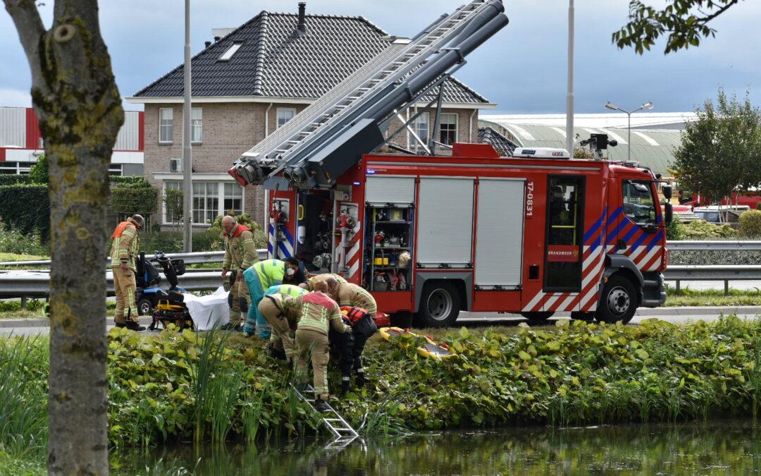 Persoon met scootmobiel raakt te water Wolfend Bergschenhoek